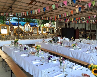 Fabric Bunting Banner Sale, Eco Friendly Wedding, Rustic Garland, Shabby Chic Garland, Autumn Wedding Garland, Fall Wedding Banners, Circus