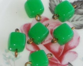 N1070 Vintage Connectors Kelly Green Atomic Eames Dangle Connector Artsy Square