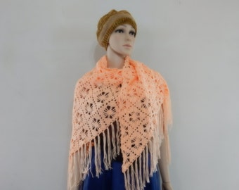 Crochet shawl in Soft Green