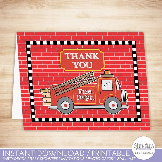 truck thank you card template truck folded