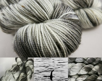 Twisty Face / Loch Ness Monster hand painted yarn / hand dyed superwash blue faced leicester wool / indie dyer / scottish myth / plesiosaur
