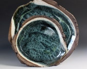 Stoneware Dinner Plates in Sage, large and small