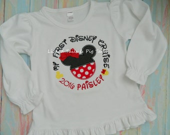 My first Disney Cruise Shirt, 1st Cruise Cruise Away Sail Away with Mickey