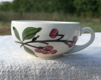 Bittersweet Cup by Blue Ridge Southern Pottery, Red Berries