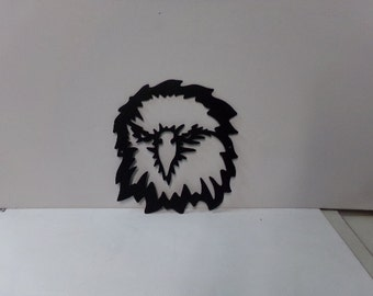 Eagle Head 002 Small Metal Wall Yard Art Silhouette