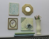 wall collage - Vintage Charm- wall art gallery - 4 pieces