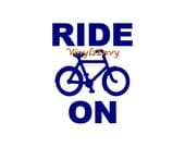 Ride On Bicycle Decal - Car Decal - Vinyl Car Decal, Window Decal, Laptop Decal, Bike Decal