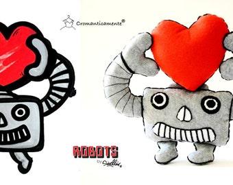 ROBOTTINO DI PEZZA - Robot Softie Limited Edition Cromanticamente & Massimo Sirelli