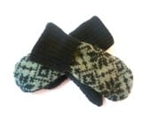 Kids mittens, recycled sweater mittens, lined mittens, warm mittens