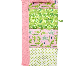 Gator Play Pink Quilted Nap Mat by janiebee.com