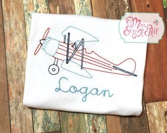 Boys Vintage Stitch Airplane Tee