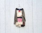 upcyled funky tunic dress ladies women upcycled clothing Patchwork Dress Eco Dress / Artsy Dress by CreoleSha