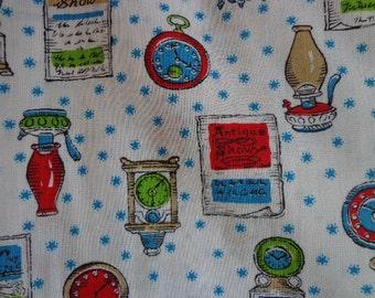 Vintage Fabric, New England Theme Inspired,  Fabric Mid Century