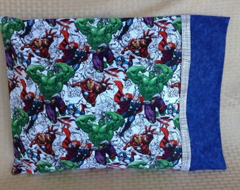 Marvel Comics Superhero Travel pillowcase