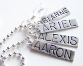 PICK FIVE Charm, Bead, OR Stamped Name Tag plus a Chain