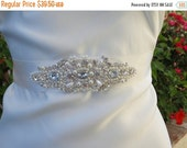 ON SALE Bridal Belt, VAL, Bridal Sash, Pearl Sash, Rhinestone Sash, Bridal Belt, Wedding Sash, Flower Girl Sash