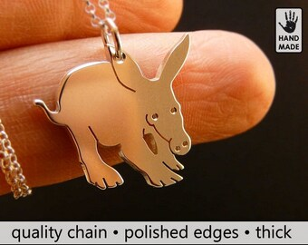 AARDVARK Handmade Sterling Silver .925 Necklace in a gift box