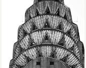 CIJ sale, Art Deco Chrysler Building, Black White New York Photography, NYC Art, Architecture, New York Prints Large Wall Art