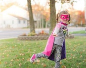 Girl Superhero Cape lightening bolt - Kid Easter Costume 12 different Color options - Play time Personilized  Gift