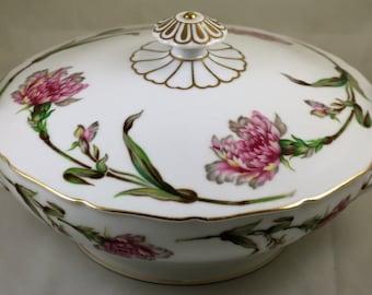 Soup Tureen, Floralton, Aladdin China, Occupied Japan