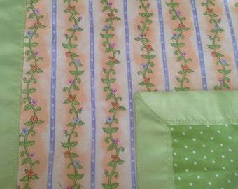 Baby girl floral blanket lovie snuggle blankie