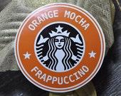 Orange Mocha Frappuccino - Handmade Sticker - Original Art Zoolander - WATERPROOF