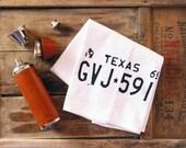 Texas Bar Mop Gift for Men Him Kitchen Dish Towel Rustic Groomsmen Housewarming Fathers Day Gift