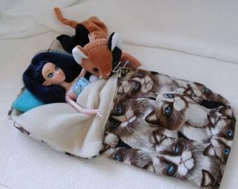 ZIPPERED Sleeping Bag Care Bears 4 pc Blythe Barbie by ...