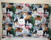FREE Shipping - Cats - Kitties - Travel Size - Small - Fits 12 x 16 Pillow