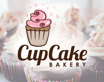 Cupcake logo design, baking logo design, Pre-made Logo Design