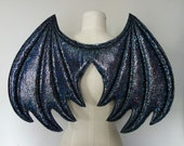 Dark Gray Dragon Wings, wireless costume wings,  Halloween Costume, cosplay wings, cosplay dragon, pretend play, Toothless