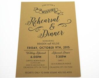 Rustic Kraft Rehearsal and Dinner Invitation: DIGITAL DESIGN