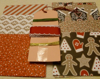 Stampin' Up! Candy Cane Lane, Christmas DIY Kit , Holiday Papers and Ribbon, Tags, Cards, Gingerbread, Mittens, Christmas trees, Card Kit