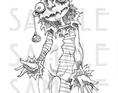 NEW 2015 CREEPMAS Creepmas Costume Digi Stamp