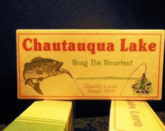 Chautauqua Lake New York camp cabin fishing tackle lure boxes decor 4YourLake