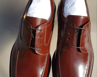 Johnston Murphy Shoes 8.5M Signature Series Brinley Mahogany Sheepskin Inside Mens Shoes MAKE OFFER