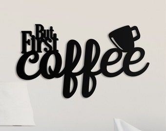 But First Coffee Word Art Wood 3D Cutout by MRC Wood Products