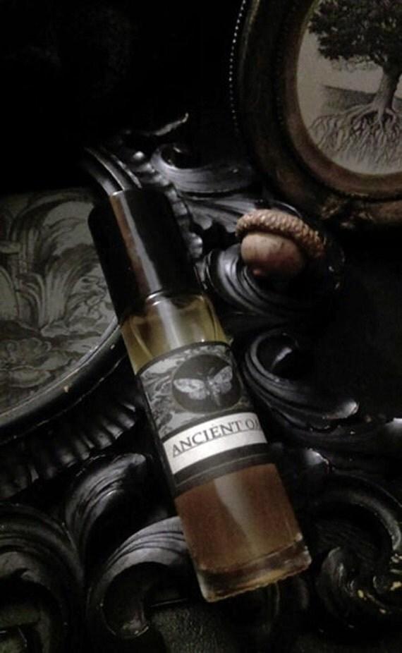 Ancient Oak  Gypsy Alchemy Natural  Perfume Oil  1/3 Roll on Oak Moss,Balsam Peru ,Green Tea , Fig, Vanilla