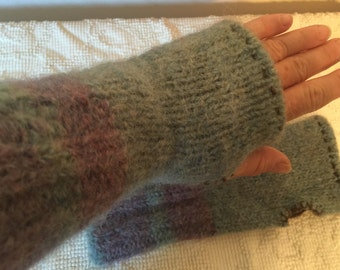 Upcycled Wrist Warmers/Fingerless Gloves