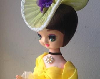 Vintage Big Eye Southern Belle Boudoir Doll- Bradley Type