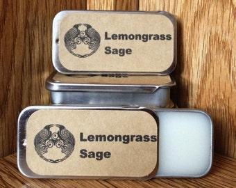 Lemongrass & Sage Solid Perfume Balm