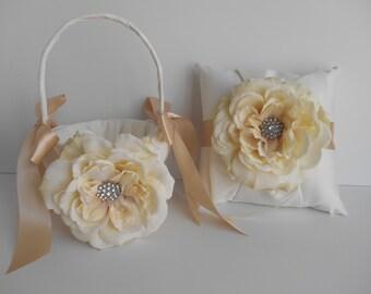 Ring Bearer Pillow and Flower Girl Basket (Custom Made)