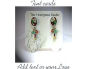 Tent  Card 0115 Earring Card  Jewelry Display   Personalized   Custom Jewelry Card Necklace Display