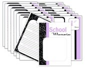 SCHOOL MEMORIES 1st day of School,  3K-12 Grade expansion pack add on 18 pages to your JaDazzles Baby Memory book