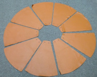 NP25CP. Package of 9 Pumpkin Leather Cowhide Triangles