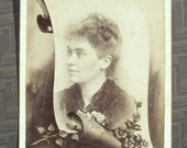 Memorial Cabinet Card - Lady from Kirksville, MO