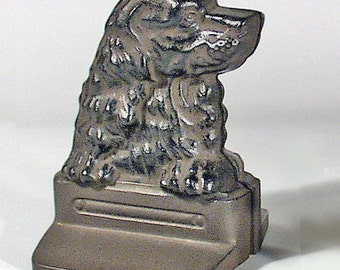 Japanese Cast Iron Bookends - Dogs