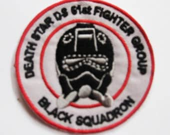 STAR WARS Death Star Ds 61st Fighter Group Black Squadron Patch Badge