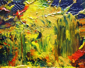 Life on Other Planets Original Abstract Acrylic Painting