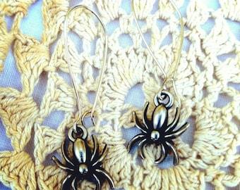 Halloween Tim Hotz Spider Earrings
